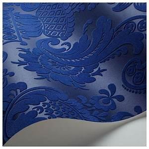 Papier Peint Bleu Foncé : papier peint petrouchka un duo de bleu fonc ~ Melissatoandfro.com Idées de Décoration