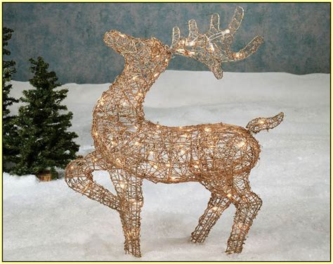 light up reindeer and sleigh home design ideas
