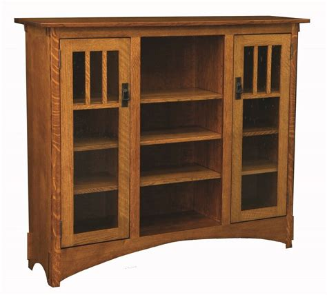 Bookcase Furniture by Amish Mission Arts And Crafts Display Bookcase Solid Wood