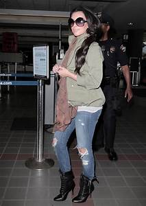 Kim Kardashian Lace Up Boots - Kim Kardashian Boots Looks - StyleBistro