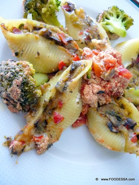 sauce for stuffed pasta stuffed pasta shells with a vegetable cheese mix and a ros 233 tomato sauce recipe by claudia