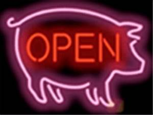 Pig Open Barbecue Bbq Neon Sign Cheap Neon Sign