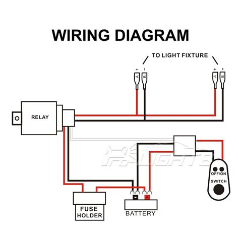 led light bar wiring diagram with switch circuit and