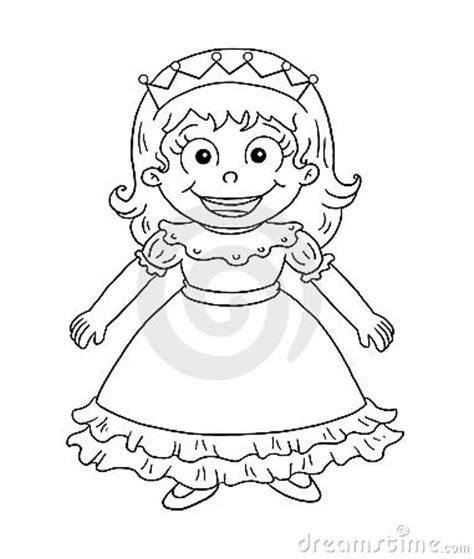 black  white cute princess stock  image