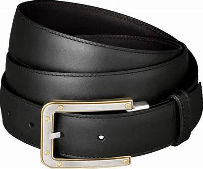 Belt Transparent Leather Cartier Buckles Golden Santos