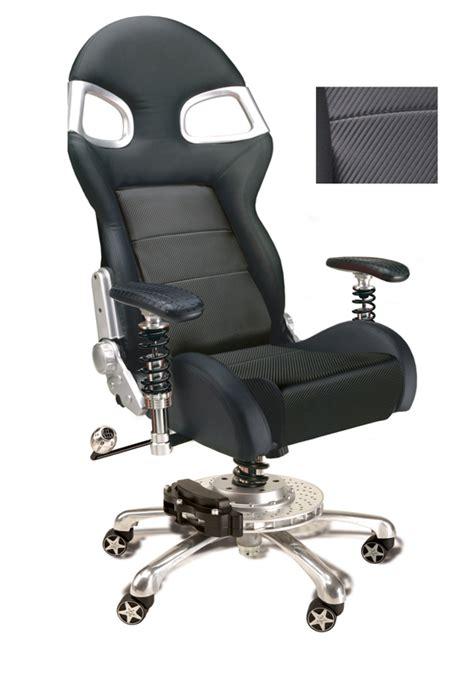 carbon fiber style race car office chair