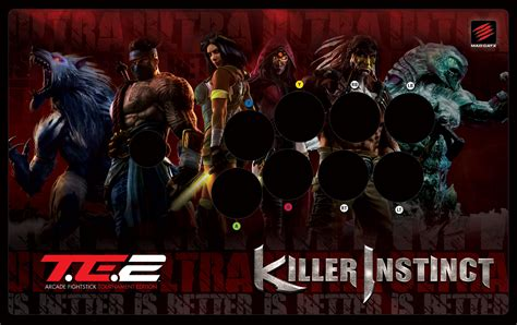 Tournament Edition Fightstick Template by Mad Catz Tournament Edition 2 Killer Instinct Fightstick