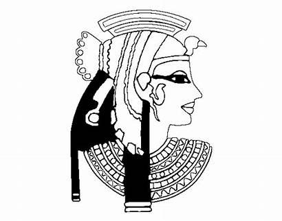 Cleopatra Coloring Profile Egypt Coloringcrew 13kb 470px