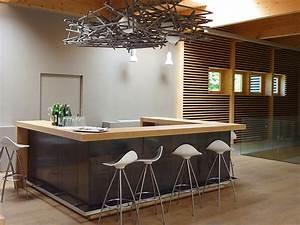 Bar De Maison : style contemporain sol style ~ Teatrodelosmanantiales.com Idées de Décoration