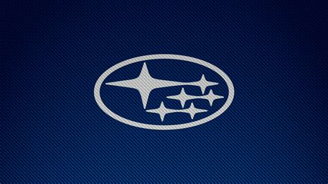 Subaru Car Wallpaper Hd by Subaru Carbon Fiber Logo Car Brands Blue Simple