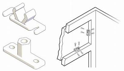 Clip False Side Right Clear Catches Fasteners
