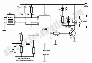 gt circuits gt 4541 timer relay circuit 0 3 second to 10 With 4541 datasheet