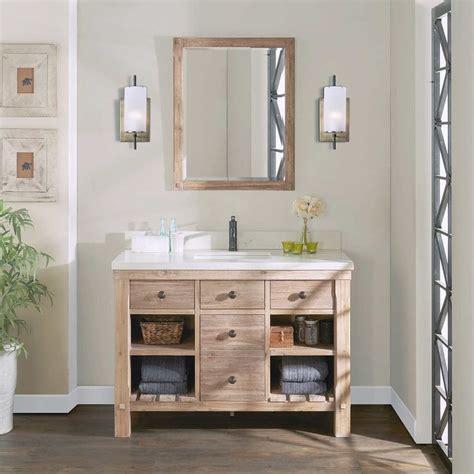 elbe rustic  single sink vanity  northridge home