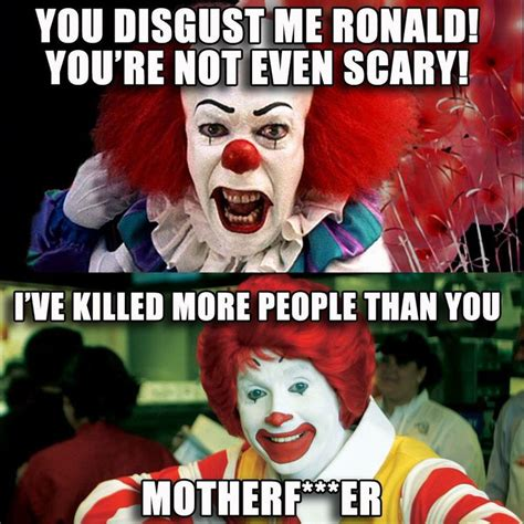 Funny Clown Memes - ronald mcdonald mcdonalds scary clown meme favourite memes pinterest ronald mcdonald