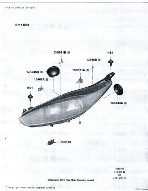 2013 ford taurus high beam and low beam headlight bulb