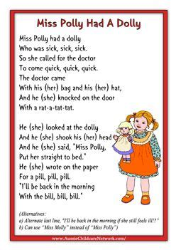 miss polly had a dolly nursery rhymes 220 | 55c0d3d6fe24deb5f04c755db7e8cfbe songs doctor songs preschool