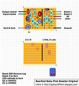 Guitar Fx Layouts  Bearfoot Baby Pink Booster