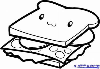 Sandwich Draw Step Drawing Steps