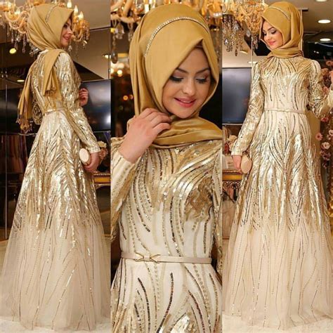 model dress brokat muslim modern  cantik elegantria