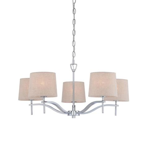 shop allen roth 5 light chrome chandelier at lowes