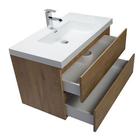 Oak Vanity by Buy Angela 35 5 Inch Wall Mount Bathroom Vanity In