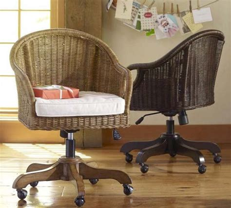 comfortable rattan swivel desk chair homesticity
