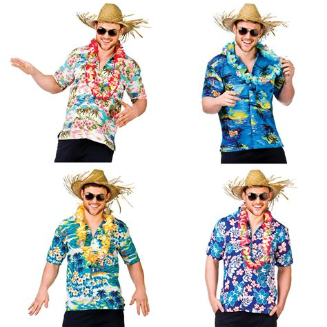Mens Hawaiian Fancy Dress Shirt Beach Luau Aloha Summer