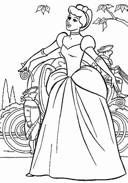 Cinderella Coloring Pages Printable Princess Disney Colouring