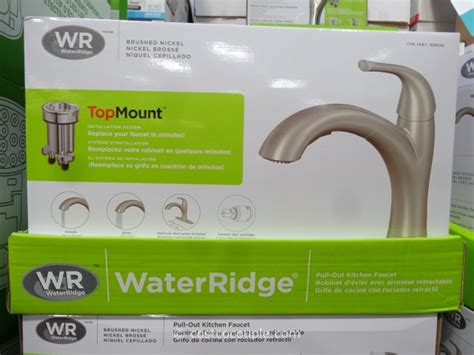 water ridge pull out kitchen faucet