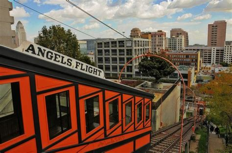 angels flight railway downtown los angeles pinterest
