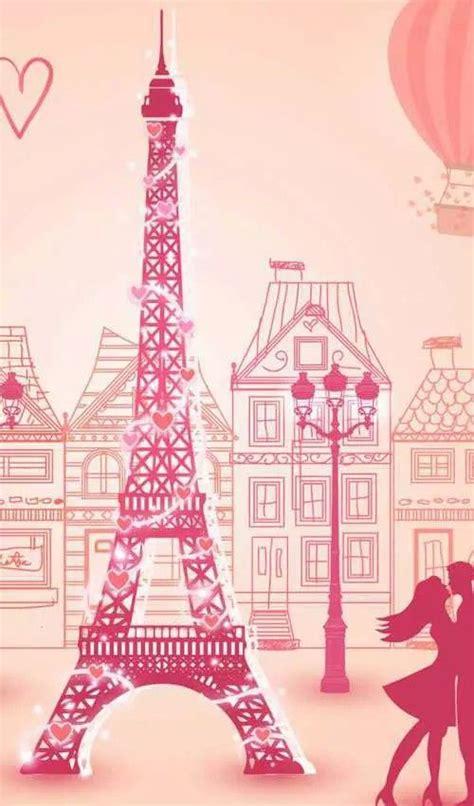 paris wallpaper pink gallery