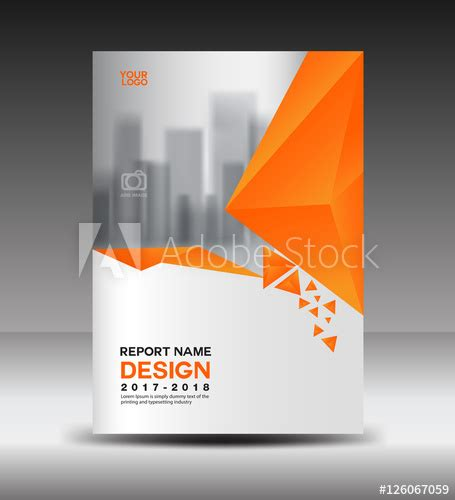 cover design annual report vector illustration business