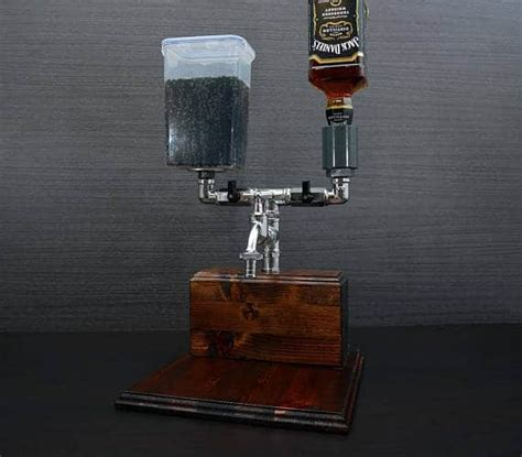 Handmade Wooden Alcohol Dispenser   Desire