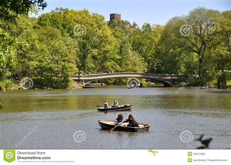 Central Park Boating Times by Nyc Central Park Boating Lake Editorial Stock Image