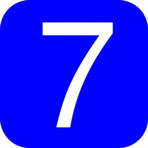 Blue, Rounded, Square With Number 7 Clip Art at Clker.com ...