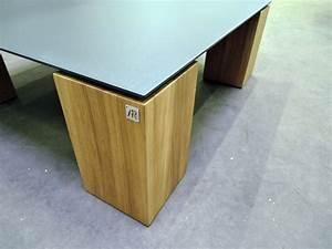 Table Basse Bois Acier : table basse contraste plateau acier et pieds en bois massif ~ Teatrodelosmanantiales.com Idées de Décoration
