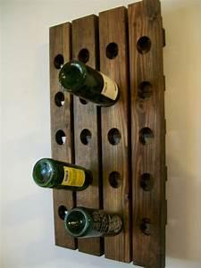 Wall Wine Rack Wood Handmade Rustic French Country