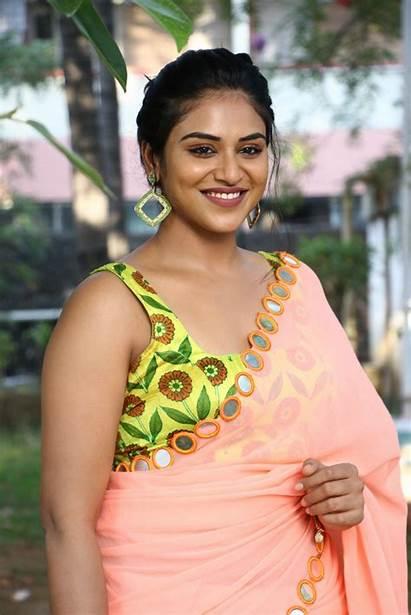 Indhuja Ravichandran Actress Saree Duper Movie Magamuni