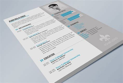 28 free cv resume templates html psd indesign cv
