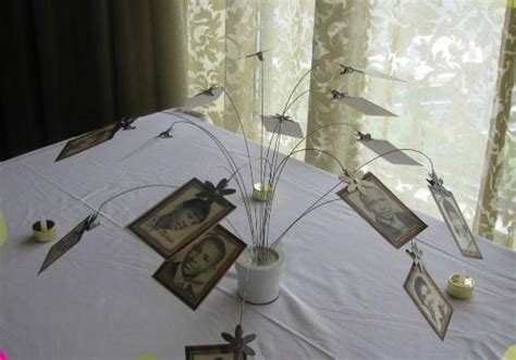 Create A Centerpiece With Photos Of The Departed