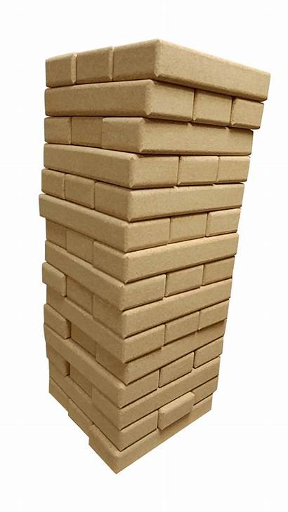 Cork Clear Blocks Wood 5ft Rounded Towers