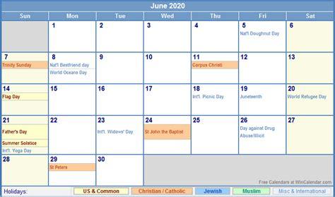 june calendar holidays printing image format