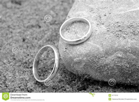 wedding rings   sand stock photo image  white