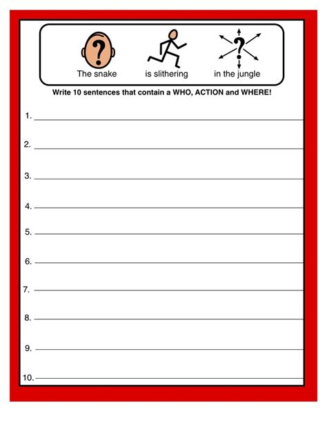 simple sentence structure great worksheet for making