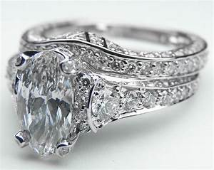 engagement ring large oval diamond cathedral graduated With big diamond wedding ring sets