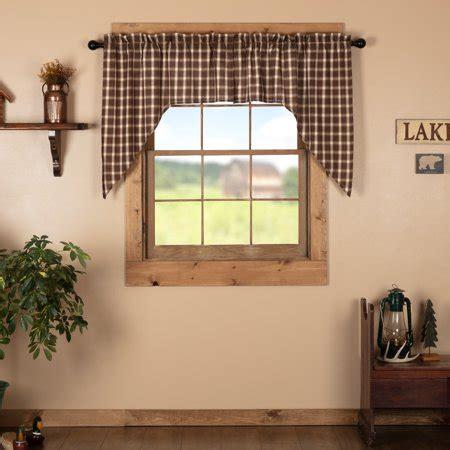 chocolate brown rustic lodge kitchen curtains sheridan
