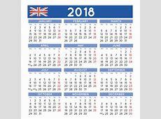 2018 A Ajusté Des Débuts BRITANNIQUES Anglais De Semaine