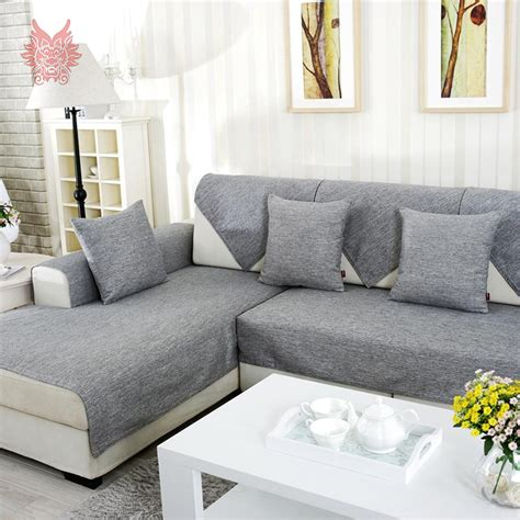 Cheap Slipcovers For Sectional Sofas by Aliexpress Com Buy Grey Melange Sofa Cover Slipcovers