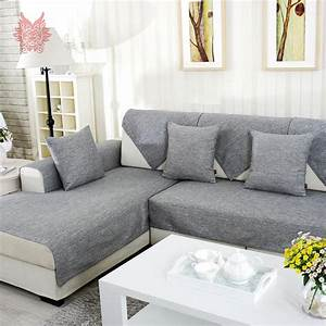 aliexpresscom buy grey melange sofa cover slipcovers With grey sectional sofa slipcover