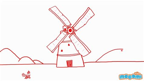How To Draw A Windmill In 2 Mins Youtube